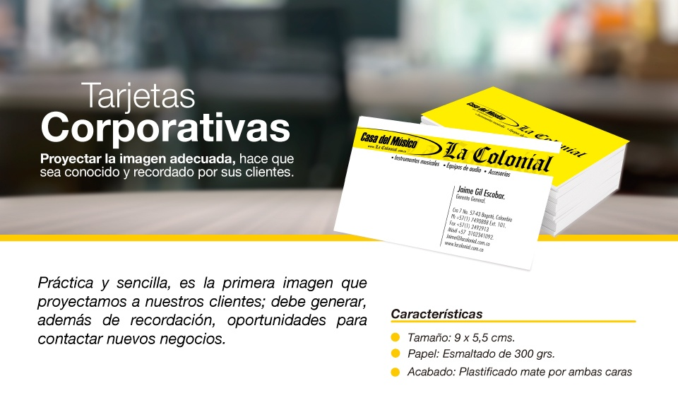 Tarjetas corporativas